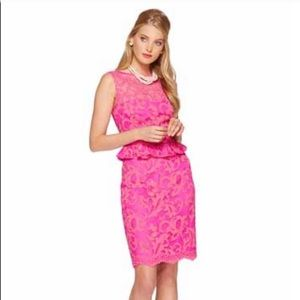 Lilly Pulitzer Kiri Dress Pink Lace
